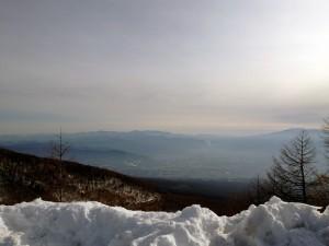 高峰高原より望む富士さん