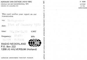 Radio Nederland QSL
