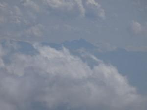 火打山から望む槍ケ岳