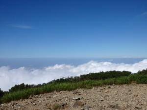 火打山から望む日本海方面