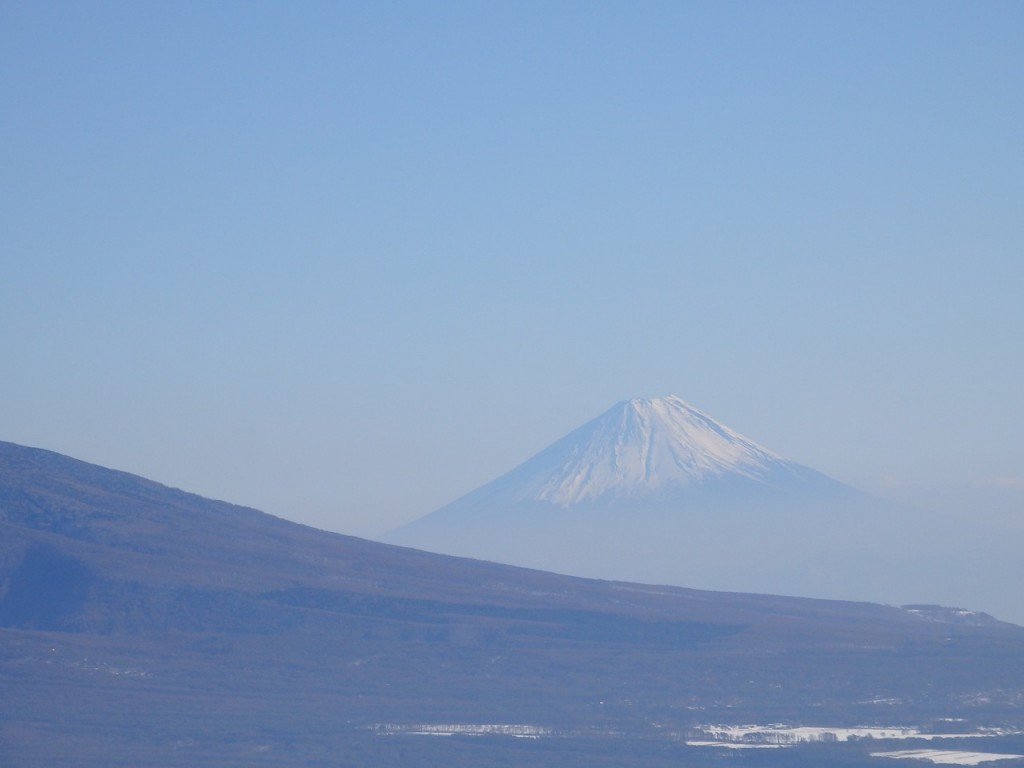 車山山頂から望む富士山