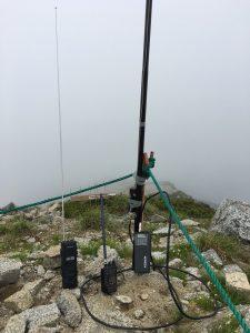 木曽駒ヶ岳山頂移動運用