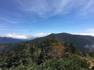 国師ヶ岳と北奥千丈岳