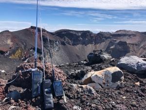 富士山山頂白山岳より10mFM、CB運用